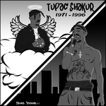 2pac Cartoon Graphic Design (No Color) by ZeontaSmith