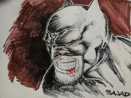 batman head sketch by Sajad126