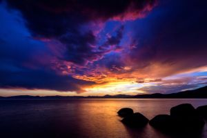 Tahoe Sky on a Friday Evening by sellsworth
