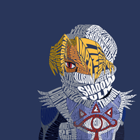 Sheik Typography (OoT) by Sophistilax