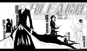 INOUE RESCUE - Bleach Line Art by TheNotoriousGAB