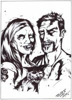 Zombie Couple, and cat too by AlonsoNunez