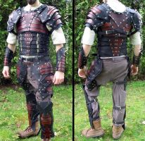 Full leather armor with slats by ArtisansdAzure