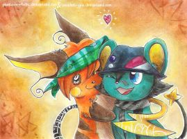 Electric Pals by Pharaonenfuchs
