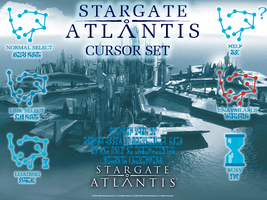 Stargate: Atlantis Cursor Set by bloodedveils