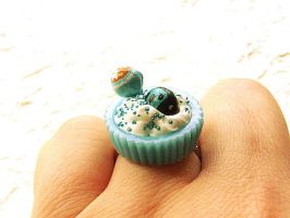 Blueberry Cup Vanilla Ring by souzoucreations