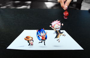 Attack of the Chibis! 3D-Art by InlineSpeedSkater
