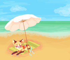 On the beach WIP by Magicpawed