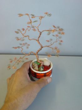 Miniature Wire Bonsai Tree  12-2 Not avaiable by sinisaart
