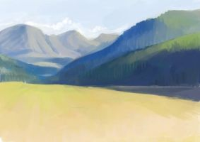 mountains distance by mountainlaurelarts