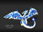 Blue porcelain dragon (back) by rosepeonie