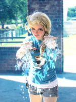 Me as Elsa with magic by GirlKaito