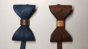Wood Pattern Bow Ties 1 by RoninLeather
