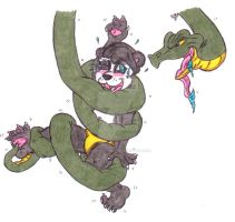 Snake Tickle: Tickling Lestat's Coiled Paws by KnightRayjack