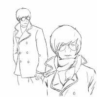 Dave in a pea coat REQUESTED by Chibi-MsHollowfox