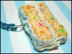 Funfetti Cake Necklace by GrandmaThunderpants
