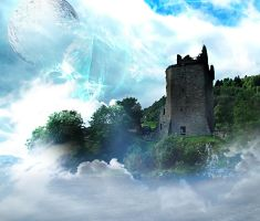 Castle Premade stock back 3 by DemoncherryStock