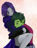 Raven/Beast Boy by MagzO