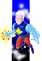 Silver Age Captain Atom by onecoyote