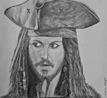 Captain Jack Sparrow by MaryBrodzeli