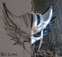 Leather Hawkgirl Helmet - Concept to Reality by Epic-Leather