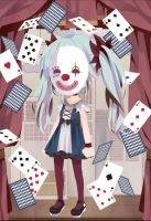 Hatsune Miku Karakuri Pierrot with mask by blueyellowgreen