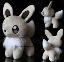 Shiny Eevee Pokeplush by MagnaStorm