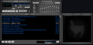 DEFAult winamp Skin Grey  blue By EmiLEDESMArg  by EmiLEDESMArg