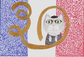 French cat card by catapurr