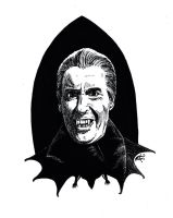 Christopher Lee as Dracula by SergiyKrykun