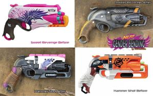 Nerf Rebelle Gender Bending - Hammershot Revenge by GirlyGamerAU