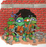Brace Yourselves Ninja Turtles by johnnyism