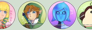 Legend of Zelda: Skyward Sword Button Set by Hannavi