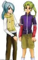 I11 - Kazemaru and Midorikawa by splashgottaito
