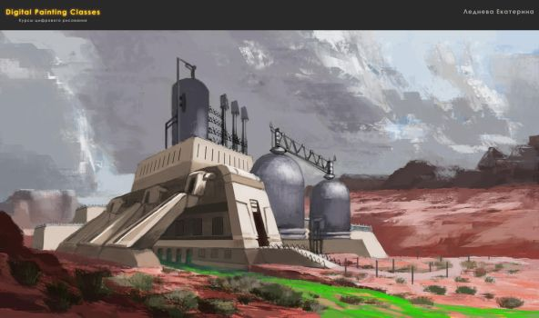 atmospheric sketch - power station by kate-aconite
