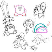 Kirby sketch dump by Razorkun