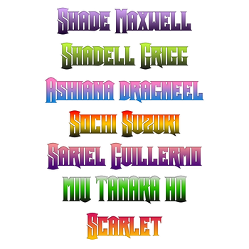 GIfts - Fairy Tail Name logos by jadeavon