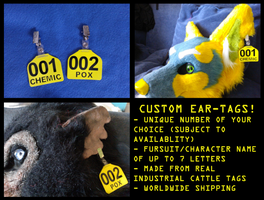 Custom Ear-Tags - Taking Orders Now! by CuriousCreatures
