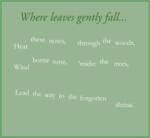 Where leaves gently fall by Liefesa