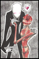 SlendermanXScarlet Fitch by tehcreechibi