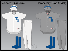 Tampa Bay Rays 1901 Uniform by JimmyNutini