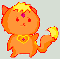 Adventure Time: Flame Princess Kitty by icanhascheezeburger