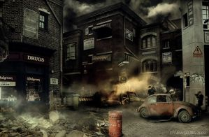 street war by SylwiaS