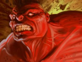 Red Hulk by animationgorilla