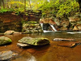 Ricketts Glen State Park 104 by Dracoart-Stock