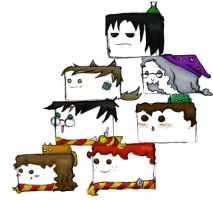 Harry Potter Stackos by piratekitty