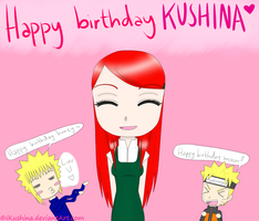 Happy birthday Kushina! by iKushina