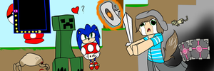 this is my channel banner for my youtube channel by Almost-Toxic