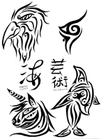 Tribal Tattoo Designs 2 by Feynix