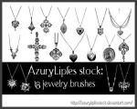 Jewelry brushes part 2 by AzurylipfesStock